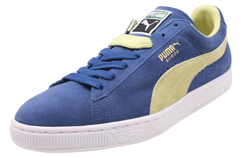 Puma Suede Classic 350734 Herren Sneaker  40.5 EU|Blu (Blue-verde)