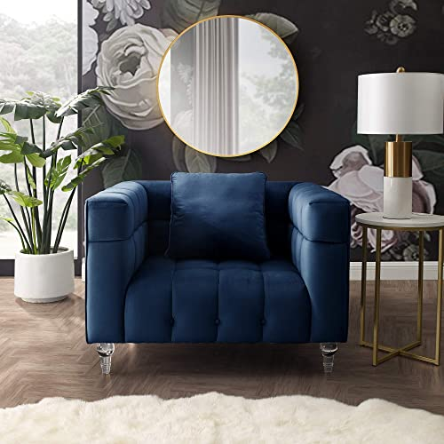 Inspired Home Velvet Accent Chair