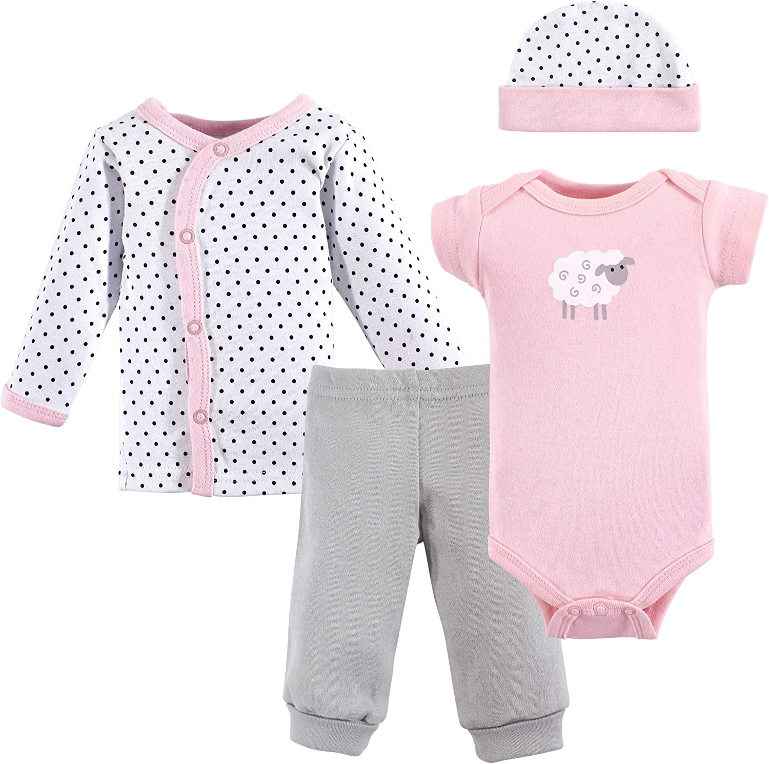 Luvable Friends Baby Girls' Cotton Preemie Layette Set