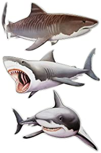 "Beistle Shark Cutouts, 22.5"" x 24.25"""
