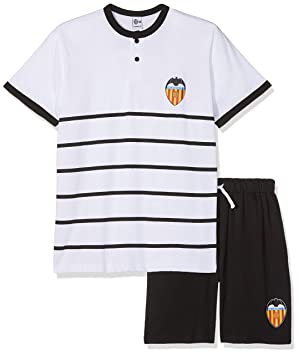 Valencia CF Pijvcf Pijama Corta, Bebé-Niños, Multicolor (Blanco/Negro)