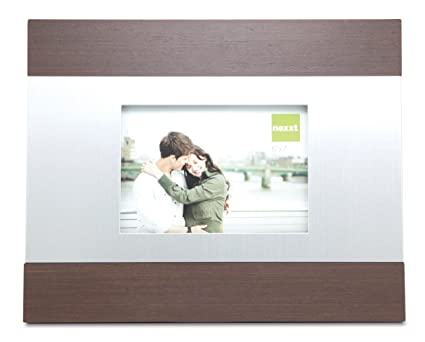 Amazon.com - nexxt Hudson Picture Frame, 7 by 5-Inch, Brushed Silver ...