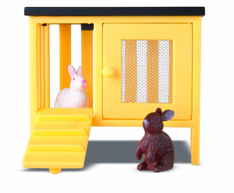 Lundby 60.8041.00 - Smaland: 2 conigli con stalla per casa delle bambole