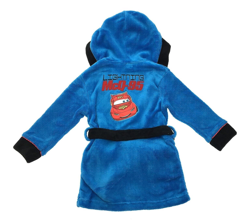 Disney Kids Boys Lightning McQueen Cars Fleece Bath Robe Dressing ...