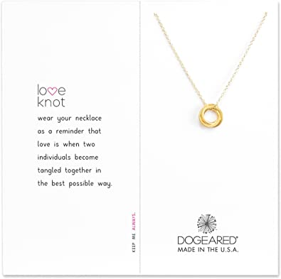 90bb20a7a0e7a6 Amazon.com: Dogeared Women's Love Knot Necklace Gold Dipped One Size:  Jewelry