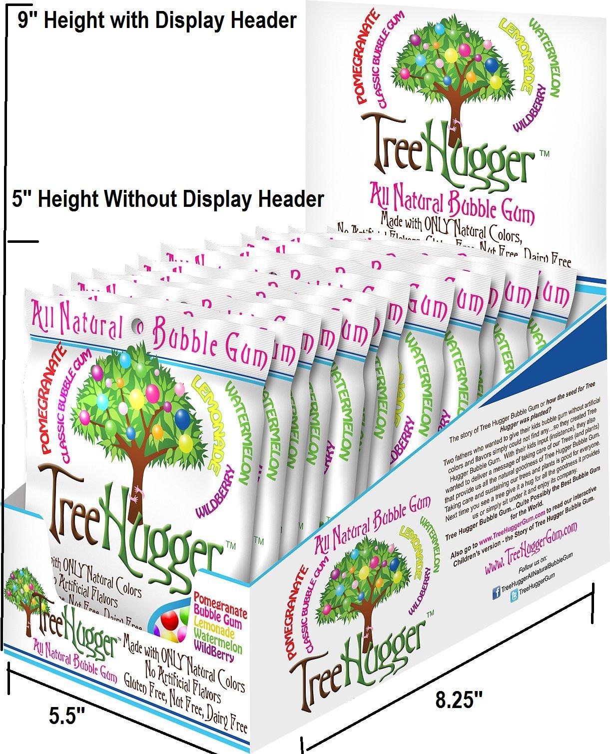 Tree Hugger Fruit Bubble Gum, 2 Ounce (Pack of 12) by Tree Hugger