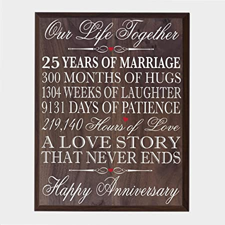 25th Wedding Anniversary Gifts.25th Wedding Anniversary Wall Plaque Gifts For Couple 25th