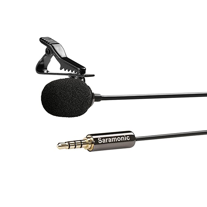 Brand New Saramonic Sr-lmx1 Video Production & Editing Broadcast Quality Lavalier Clip-on Microphone New Audio For Video
