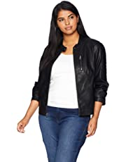 Levi's Size Women's Plus Faux Leather Fashion Quilted Racer Jacket