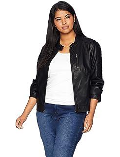 2f1d157a498 Amazon.com  Levi s Size Women s Plus Faux Leather Studded Motorcycle ...