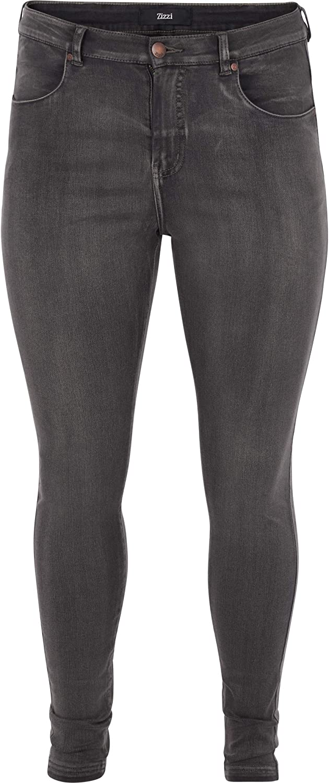 Zizzi Amy Damen Jeans Super Slim Jeanshose Stretch Hose Gro/ße Gr/ö/ßen 42-56
