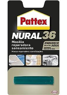 Pattex Nural 36, masilla reparadora saneamiento, sin disolventes, blanco, 48gr