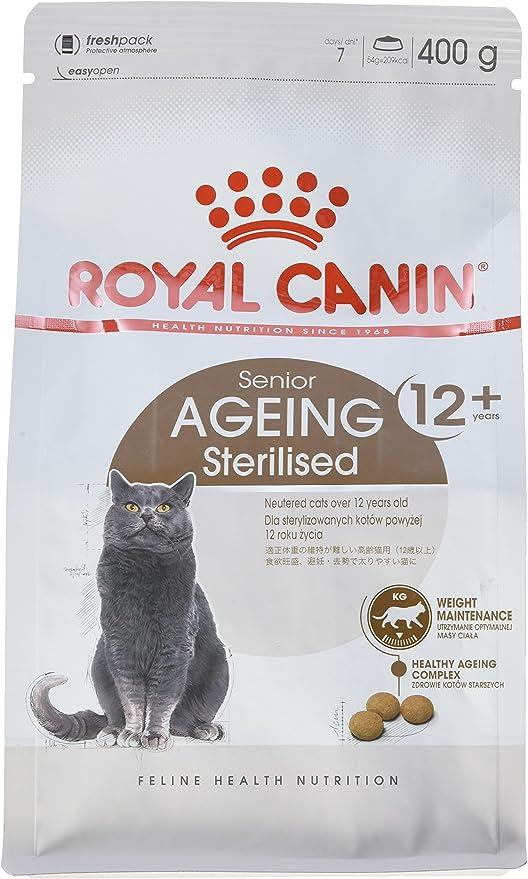 Royal Canin Comida para gatos Sterilised +12 400 Gr: Amazon.es ...