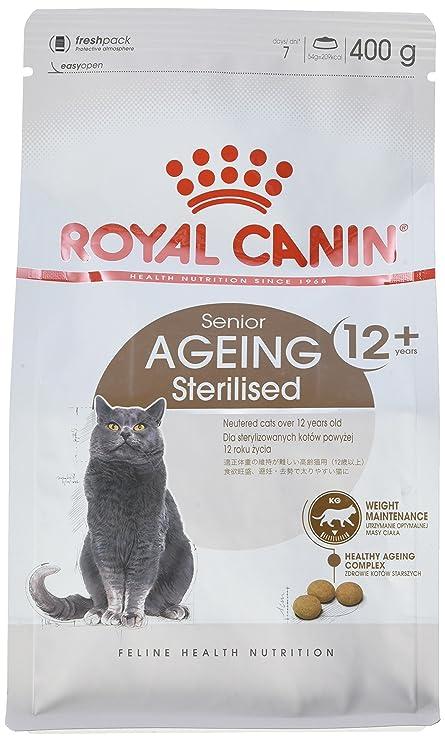 Royal Canin Comida para gatos Sterilised +12 4 Kg: Amazon.es: Productos para mascotas