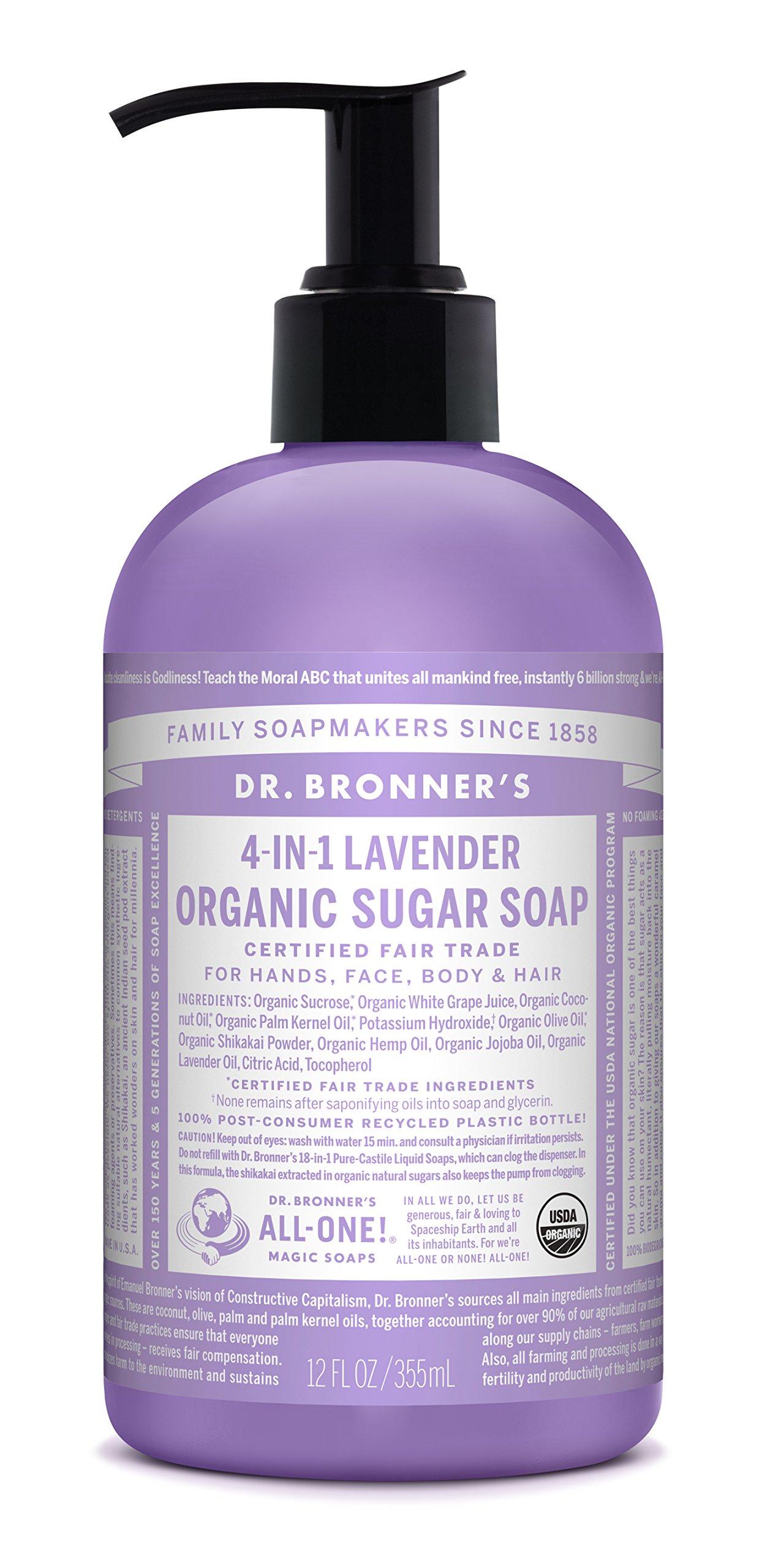 Dr Bronner's Organic Sugar Soap (Lavender)