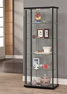 Coaster Home Furnishings 950170 Curio Cabinet, Black