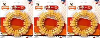 product image for Nylabone Dura Chew Large Textured Ring Dog Chews, Chicken Flavor, Pack of 3