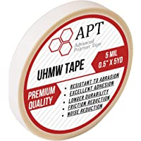 APT, 5 Mil UHMW (Ultra-high Molecular Weight) Polyethylene Tape, Resists Abrasion,Impact, for Surface Protection and…