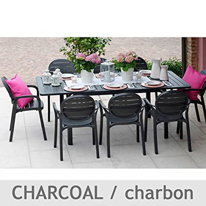 Nardi Patio Furniture.Nardi Alloro 9 Piece Patio Furniture Dining Set Extendable Table