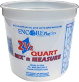 Encore LS61086 2.5 Quart Mix' N Measure Container Comes Without Lids - (Pack of 12)