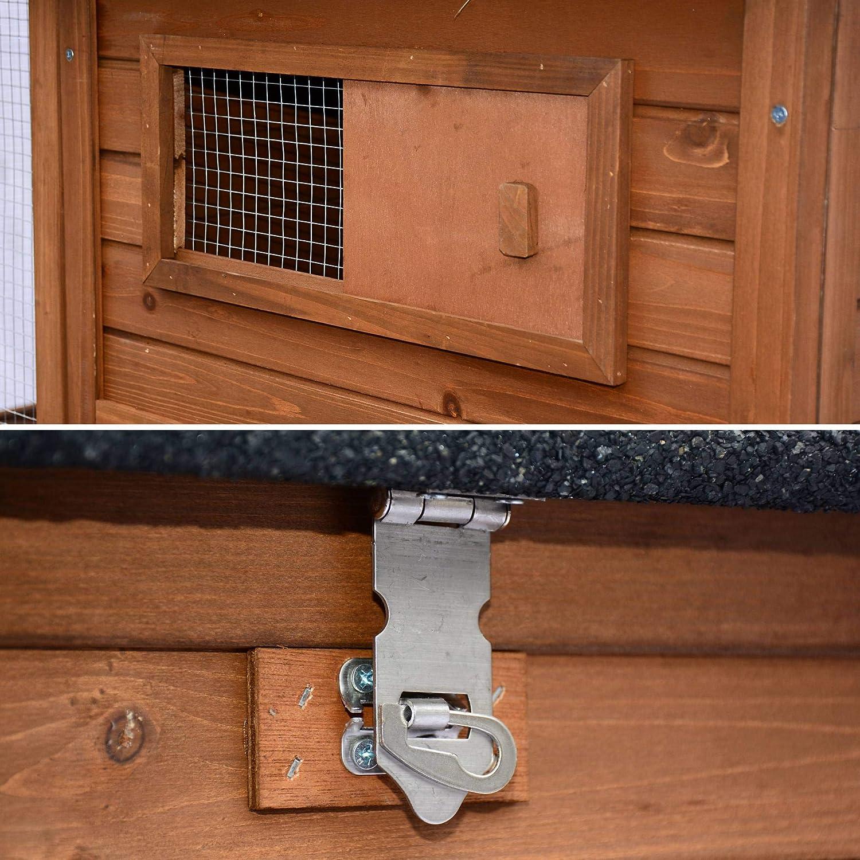 Alices Garden - Gallinero de madera America, de 6 a 8 gallinas - America: Amazon.es: Productos para mascotas
