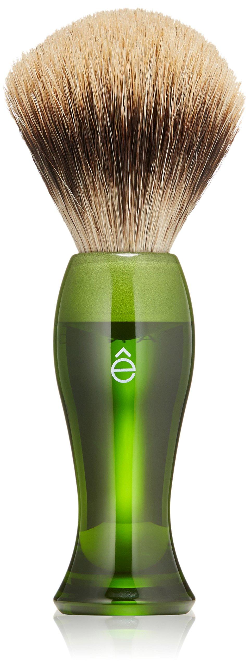 eShave Fine Badger Hair Shaving Brush, Green