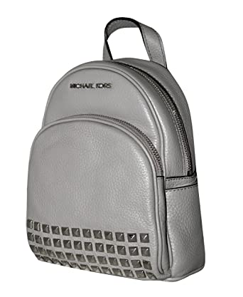 666c8c3f7f0215 Amazon.com: Michael Michael Kors Abbey Pearl Grey XSmall Studded Backpack:  Clothing