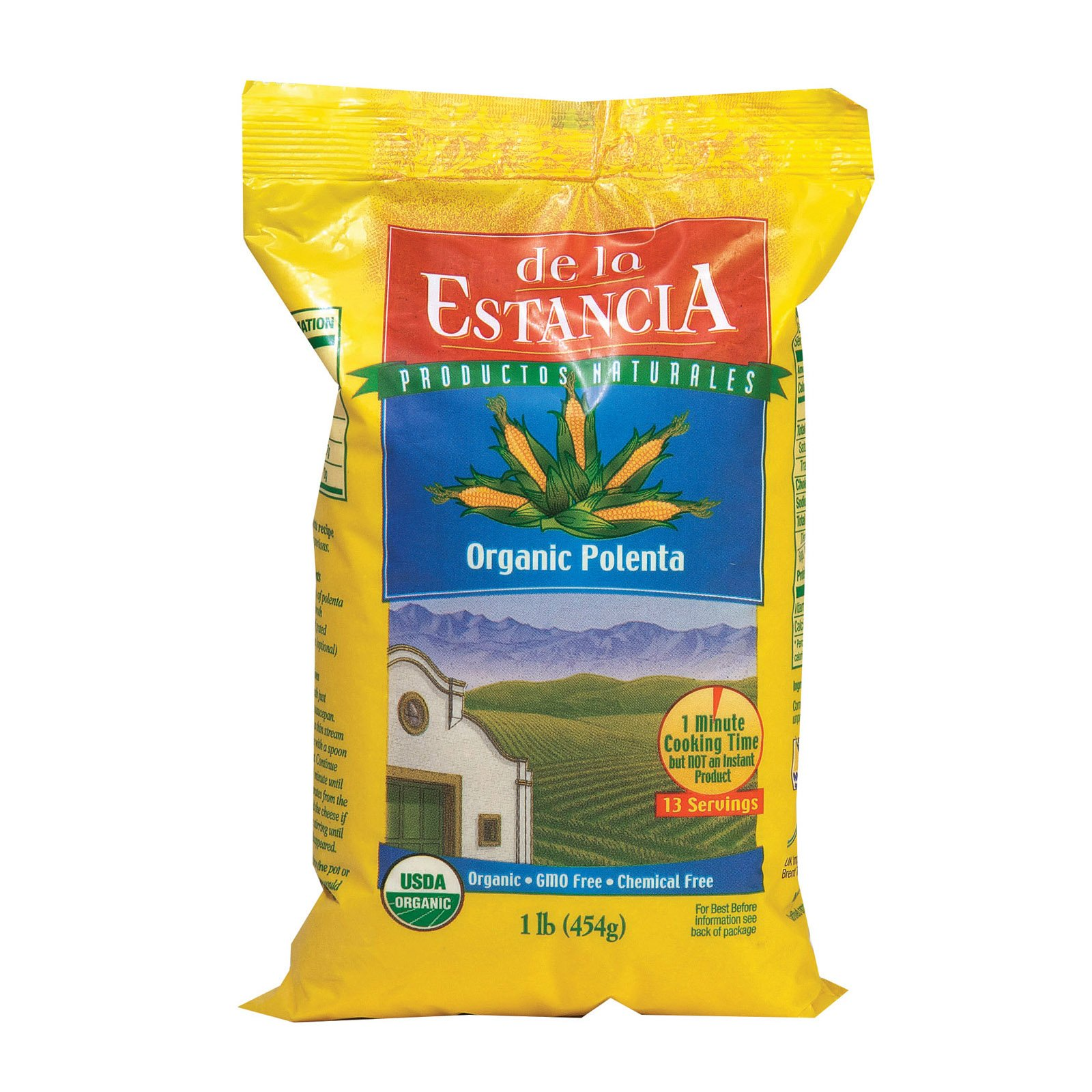 De La Estancia Organic Corn Meal Polenta - Case of 6-16 oz. by De La Estancia