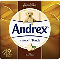 Andrex Smooth Touch Toilet Tissue, 9 Rolls