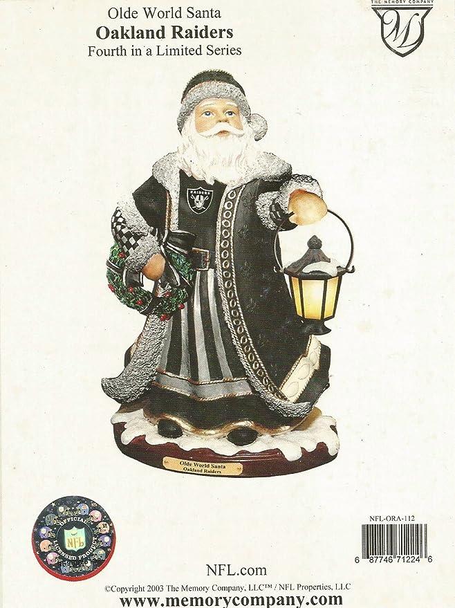 amazon com oakland raiders limited edition memory company olde world santa christmas figurine collectible figurines sports outdoors amazon com