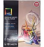 UART Sanded Pastel Paper M-148931 9-Inch/12-Inch No.400 Grade Paper, 10-Pack