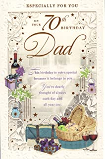 Happy 70th birthday dad birthday greetings card amazon happy 70th birthday to a wonderful dad card especialy for you on your 70th m4hsunfo