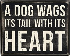 Primitives by Kathy 28670 Classic Box Sign, 5 x 4-Inches, A Dog Wags