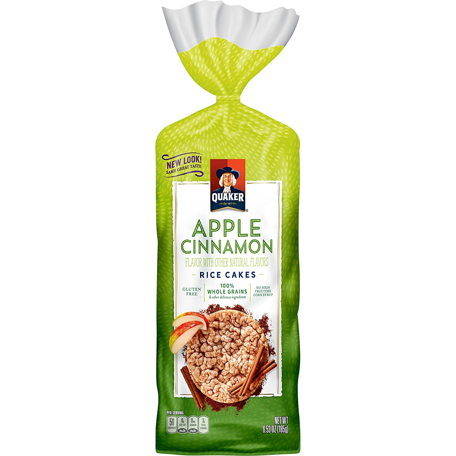 Quaker Rice Cake, Apple Cinnamon, 6.53 oz Bag
