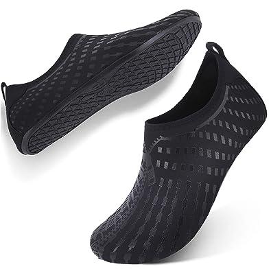 5894503b5a13 FEETCITY Mens Water Shoes Swim Footwear for Women Quick-Dry Aqua Shoes for  YOG Print