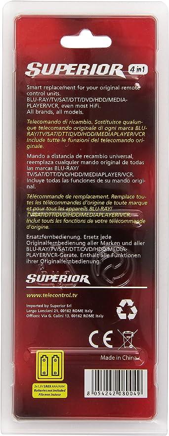 Superior 4in1 - Mando a distancia Universal: Amazon.es: Electrónica