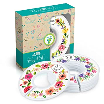 15642b181af5a Baby Nest Designs Closet Dividers for Baby Clothes [Floral Bouquet] - 7x  Baby Clothing