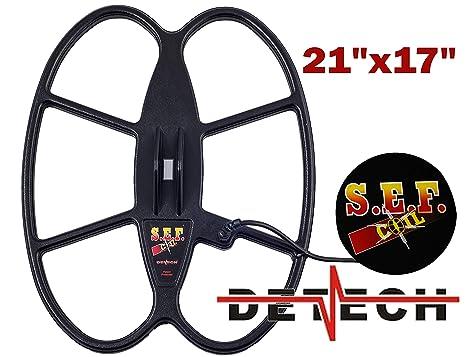DETECH 21 × 17 S.E.F. Butterfly - Detectores de Metal de búsqueda de Bobina