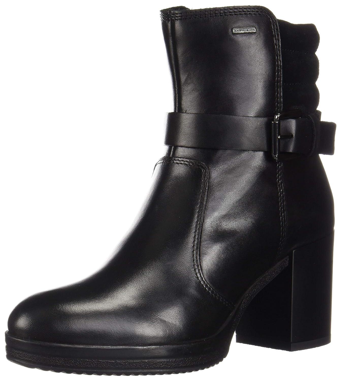 Black Geox Womens Remigia Amphibiox Waterproof Boot Boots