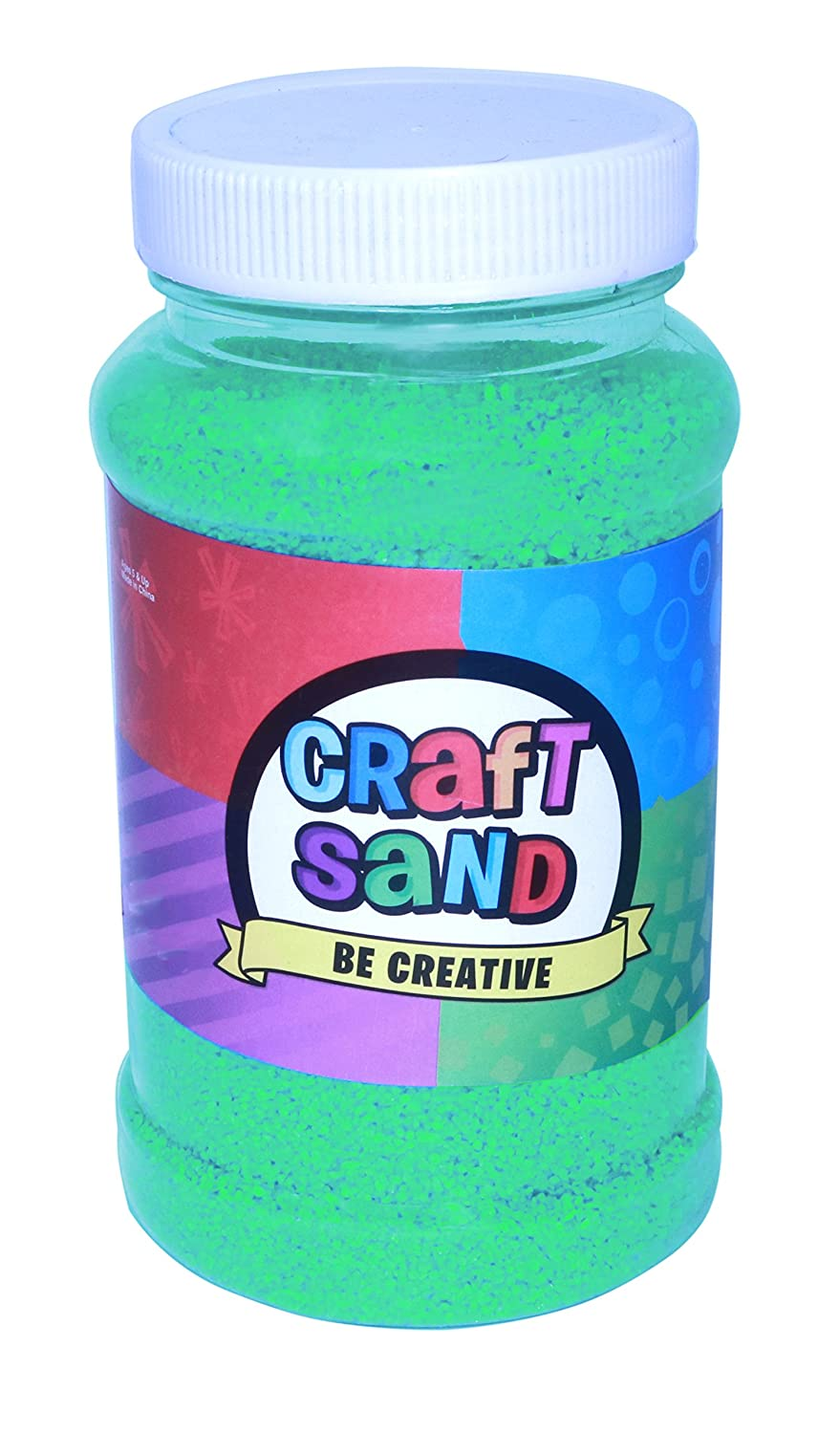 (Green) - Colourful Craft Sand - Choose A Colour Black, Blue, Orange, Pink, Green, Purple, Red, White (Green) B073X13TS7 グリーン