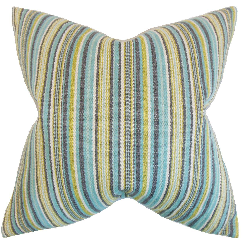 The枕コレクションp20-d-32749-aqua-p100 Jananストライプ枕、アクア、20