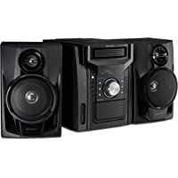 CD-BHS1050 - Altavoz y sistema de subwoofer con cassette y Bluetooth, Azul, With out Subwoofer