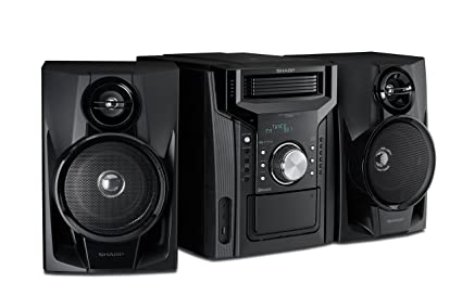 Sharp CD BH950 240W 5 Disc Mini Shelf Speaker System With Cassette And