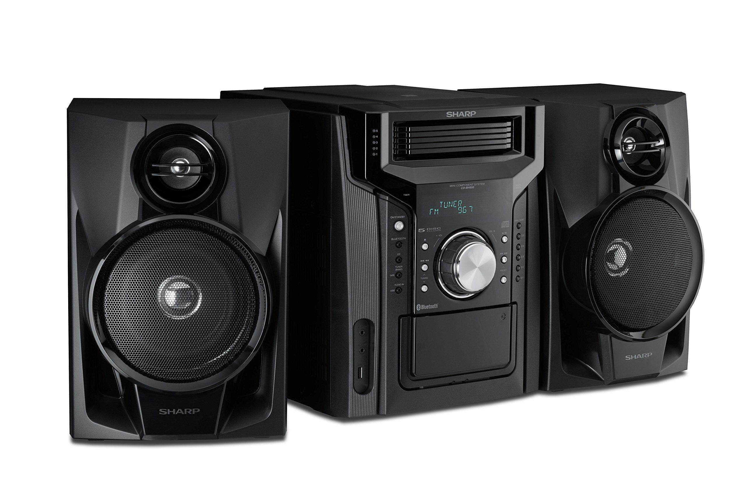 Sharp CD-BH950 240W 5-Disc Mini Shelf Speaker System by Sharp