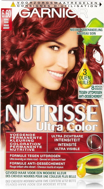 Garnier Nutrisse Ultra Color 6.6 coloración del cabello Rojo ...