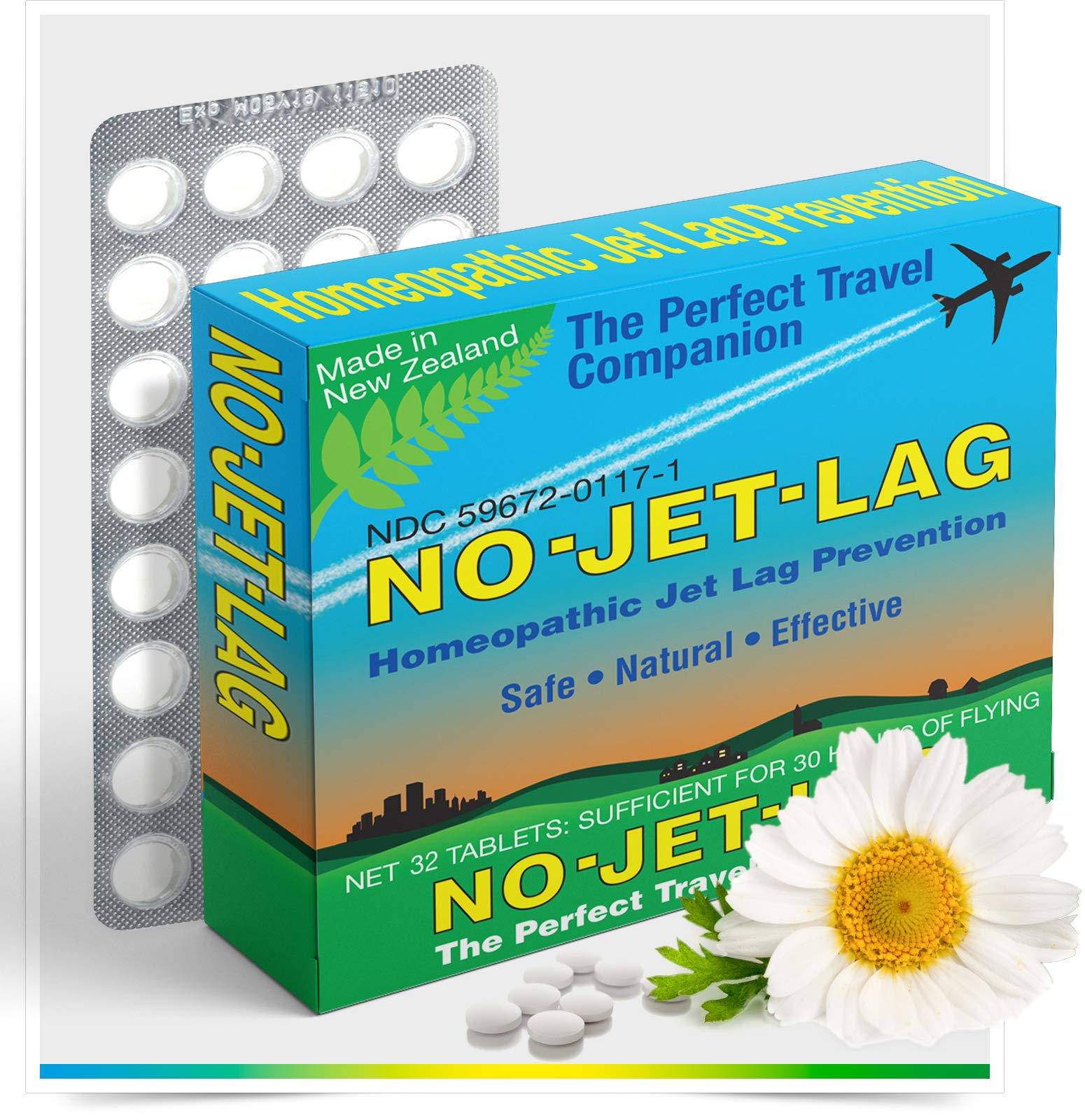 Miers Labs No Jet Lag Homeopathic Remedy + Fatigue Reducer for Airplane Travel Across Time Zones with All Natural Ingredients - 32 Count Chewable Tablets (for up to 50+ hours of flying) by Miers Labs