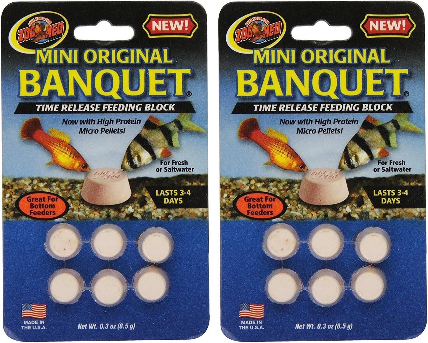 Zoo Med Laboratories AZMBB2 Mini Banquet Block Feeders, 12 Count