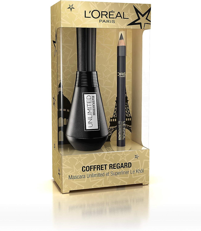 L Oréal Paris edición limitada Navidad estuche mirada Mascara Unlimited/Superliner Khôl: Amazon.es: Belleza