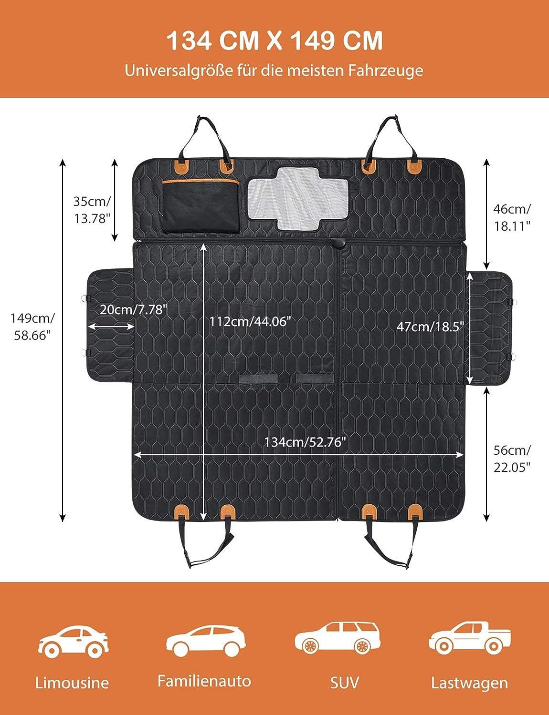 con Protezione Laterale in Rete 1,565 kg Coperta Protettiva per Auto con 2 Protezioni Laterali AntiGraffio Impermeabile Antiscivolo Colore: Nero OMORC GEGD093AB