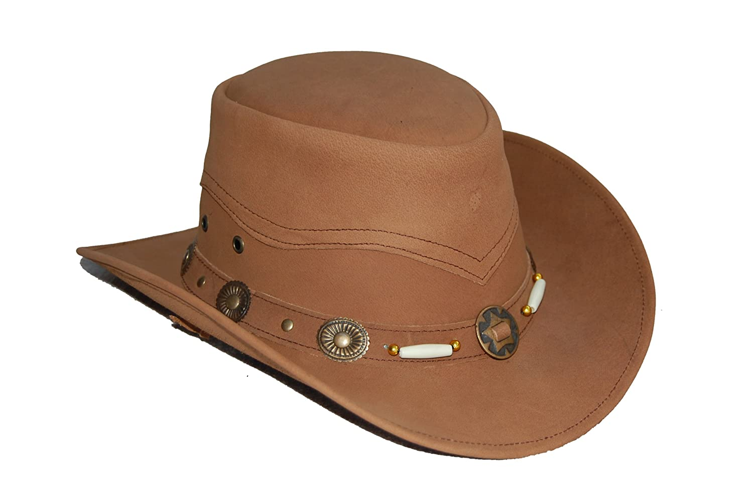 Cowhide Leather Western STYLE Cowboy Hat